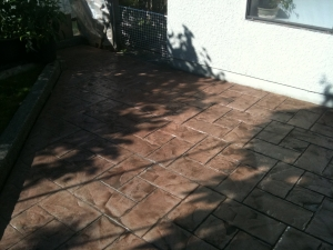 Stamped Concrete Refinishing